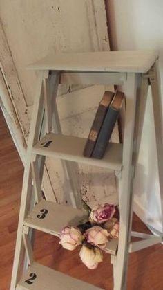 Roses on old ladder