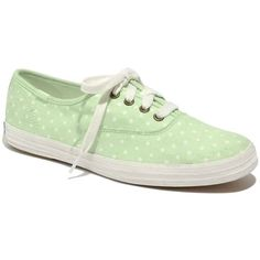 Keds® x Madewell Polka-Dot Sneakers (3,005 INR) ❤ liked on Polyvore featuring shoes, sneakers, sapatos, zapatos, mint dot, madewell shoes, dot shoes, polka dot shoes, madewell and rubber sole shoes