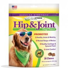 """Dog Lovers with older dogs or hip/joint issues! This supplement made a HUGE difference for Ezra in recovering from canine ACL surgery. #NaturalStride **20% Discount until 3/14 - discount code: """"TERRITORY20""""**"""