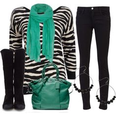 """""""Zebra & Teal"""" by qtpiekelso on Polyvore"""