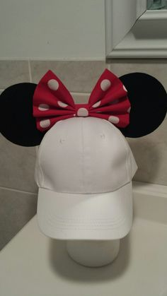 Minnie Mouse inspired Hat with ears!