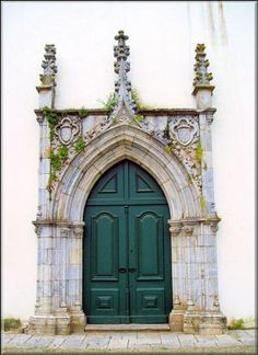 Portal of the Our Lady Convent in Beja (15th century). Portugal