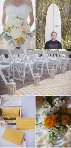 Have an aisle runner that matches your wedding colors or some of the flowers in your bouquet!