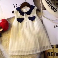 Baby Girl Frocks, Baby Girl Party Dresses, Frocks For Girls, Little Girl Dresses, Baby Outfits, Toddler Outfits, Baby Dress, Kids Outfits, Girls Dresses