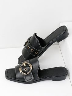Shop Eyelet Design Metal Buckle Sandals online. SheIn offers Eyelet Design Metal Buckle Sandals & more to fit your fashionable needs.