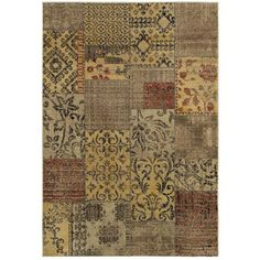 Gibraltar Multicolored Transitional Patch-print Area Rug (7'10 x 10'10)   Overstock.com Shopping - Great Deals on 7x9 - 10x14 Rugs