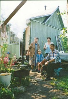 Russian Permaculture Movement A Russian family by their Dascha, or family plot