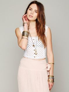 Eyelet Crop Tank at Free People Clothing Boutique