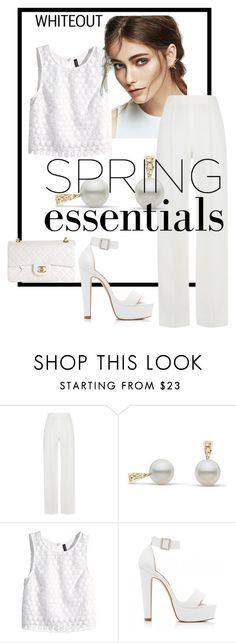 """""""White is In Sight for Spring"""" by basssweenie ❤ liked on Polyvore featuring H&M, Forever New, Chanel and springwhiteout"""