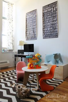 modern eames kids table and chair set - Google Search
