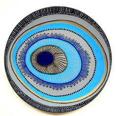 Decorative Plate - Evil Eye Wall Decor - Original hand-painted Artwork - Wall…