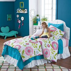 Sarah's Garden Duvet Cover and Sham from company kids