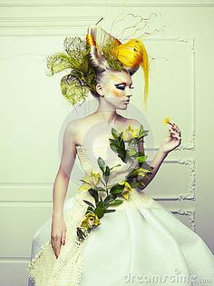Lady with avant-garde hair by George Mayer, via Dreamstime