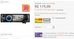 Media Player Automotivo Aquarius MPA 2002 com câmera de ré e entradas USB AUX SD << R$ 9758 >>