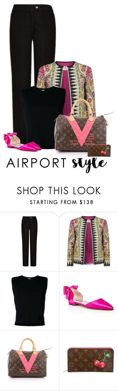 """Airport Style"" by sherry7411 ❤ liked on Polyvore featuring Acne Studios, Etro, Rito, SJP and Louis Vuitton"