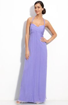 Amsale Chiffon Halter Gown available at Nordstrom