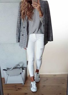 Try to wear stylish these top 30 women& formal and work outfits fo Outfits Fo, Office Outfits, Spring Outfits, Casual Outfits, Fashion Outfits, Office Attire, Office Wear, Sweater Outfits, Office Chic