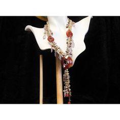 Carnelian Necklace Agate Medallions Baroque by PattysJewelryEtc ($199) found on Polyvore