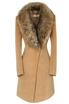 Oversize Faux Fur Collar Slim Coat, its jacket is hot you look so sexy on. Mode Outfits, Fashion Outfits, Womens Fashion, Fashion Trends, Fashion Hacks, Fashion Tips, Mode Mantel, Modelos Fashion, Mode Vintage