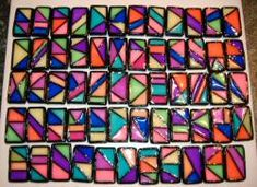 Stained Glass Tile Beads by Barbara Poland-Waters