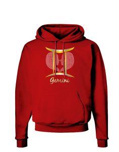 TooLoud Gemini Symbol Dark Hoodie Sweatshirt
