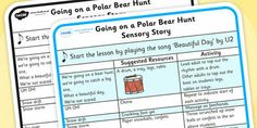 We're Going on a Polar Bear Hunt Sensory Story
