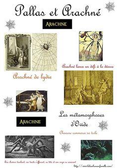 La grèce…Pallas Athéna et Arachné…