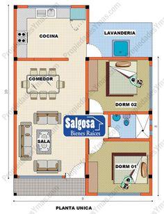 Modelos De Planos Para Casas | Modelos y planos de casas | Casas de 1 piso | 2 dormitorios ...
