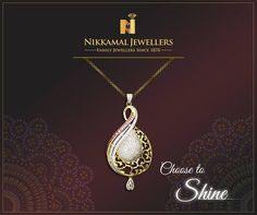 Choose to shine everyday with our Exclusive variety of Gold & Diamond Pendants available at Nikkamal Jewellers Ludhiana & Jalandhar Showrooms! #nikkamaljewellers #gold #diamond #kundan #platinum #polki #watches #jewellery #jewelry #indianjewellery #indian