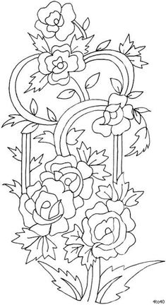 embroidery pattern by cheristayloring Jacobean Embroidery, Ribbon Embroidery, Cross Stitch Embroidery, Cross Stitch Patterns, Snowflake Embroidery, Embroidery Designs, Border Pattern, Free Pattern, Coloring Book Pages