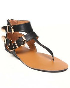 Love this Erin Three Buckle Strappy Flat Sandal by Fashio... on DrJays. Take a look and get 20% off your next order!