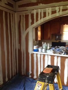 Starting to paint the paneling