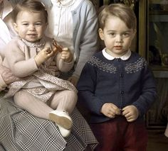 Princess Charlotte and Prince George in new photos for Queen's 90th birthday.