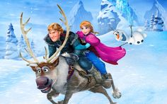 Anna Kristoff Riding Sven