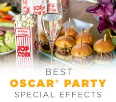 With delicious, bite-size appetizers including sliders and mini cups of mac and cheese, the award for best special effects will be yours. Serve up a scrumptious Oscar party menu with a little help from Kohl's. #AllTheGoodStuff Special Effects, Bite Size Appetizers, Appetizer Recipes, Snack Recipes, Hollywood Party, Oscar Party, Party Themes, Party Ideas, Holiday Parties