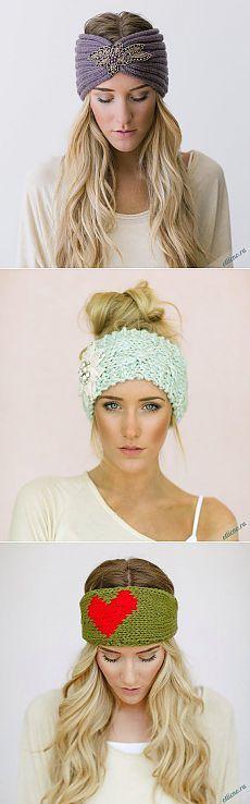 Вязаные повязки на голову   Отлично! Школа моды, декора и актуального рукоделия