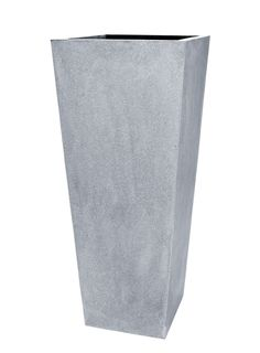 Le Present Grey Tapered Fiberstone Pot , Gray - 39 x 16 x 16 in. All In One, Planters, Presents, Vase, Shapes, Flowers, Home Decor, Gray, Gifts