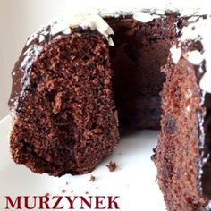 Murzynek bez miksera Healthy Sweets, Cake Cookies, Baked Goods, Food And Drink, Cooking Recipes, Chocolate Factory, Gourd, Recipe, Polish Recipes