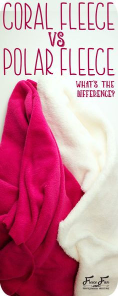 Coral fleece vs Polar fleece: What is the difference between these two fabrics. It's interesting the learn what they have in common and how they can be very different. Great sewing tips to understand the properties of these two fabrics! Fleece Crafts, Fleece Projects, Sewing Projects For Kids, Fun Projects, Diy Crafts, Sewing Tips, Sewing Hacks, Sewing Tutorials, Sewing Ideas