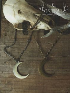Wolf Moon necklace in silver by Osteal on Etsy