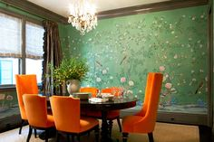 Dining room wallpaper this cool is just an excuse to enjoy 15 meals a day!