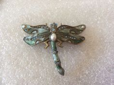 Vintage Shades of Blue & Green Enamel & Rhinestone Art Deco Style Dragonfly Pin in Jewelry & Watches, Vintage & Antique Jewelry, Costume, Unknown Period, Pins, Brooches | eBay