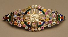 Marie Zimmermann. Bracelet. Gold, enamel and sapphires, 4 x 1 1/2 in (10.2 x 3.8 cm). Private collection. Photograph: David Cole © American Decorative Art 1900 Foundation.