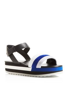 Furla Galtea Color Block Platform Sandals