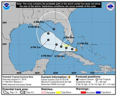 The National Hurricane Center has released four hurricane graphics aimed at helping people better understand the risks posed by an approaching storm.  Some graphics are just tweaks to well-known products, such as the forecast track cone.  Check the Palm Beach Post storm tracking map.  But others are entirely new and could easily be misinterpreted.  Here are the four graphics and what they mean.   Potential tropical cyclones:To improve alert times for tropical systems, the NHC...