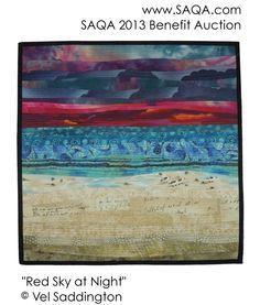 Art quilt by Vel Saddington
