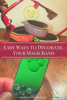 Decorating Your MagicBand - Super easy ways to add some personal flair to your MagicBand before your Walt Disney World vacation. Disney World Tips And Tricks, Disney Tips, Old Disney, Disney Art, Disney Dream, Disney Love, Walt Disney World Vacations, Disney Travel, Disney Magic Bands