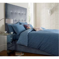 JIGSAW FOX PRINT BLUE DUVET COVER SINGLE: Amazon.co.uk: Kitchen & Home £79 -for DAYBED