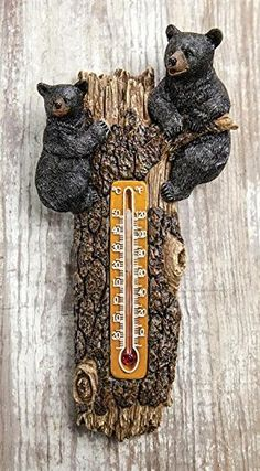 Lodge Resin Black Bears in Tree Wall Thermometer Manual Woodworker http://www.amazon.com/dp/B00TD22XF6/ref=cm_sw_r_pi_dp_fhJ7ub0T6V80D