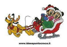 topolino e minnie natalizi punto croce